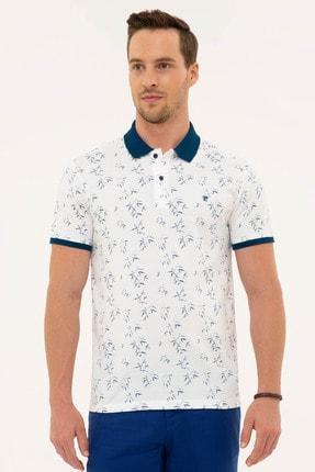 Pierre Cardin Erkek Lacivert Detaylı Slim Fit Polo Yaka T-Shirt