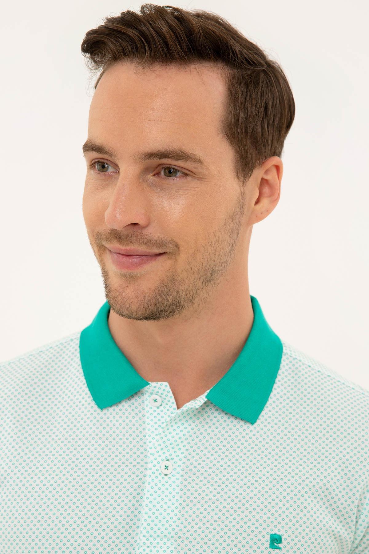 Pierre Cardin Erkek Mint Yeşil Slim Fit Polo Yaka T-Shirt 2