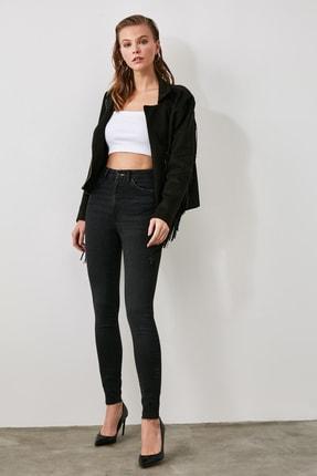 TRENDYOLMİLLA Siyah Yüksek Bel Skinny Jeans TWOAW21JE0394