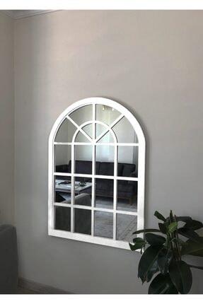 Ersa Design Beyaz Dekoratif Pencere Ayna 85x115 Beyaz