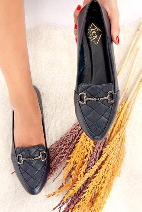 Fox Shoes Lacivert Kadın Babet H290131709