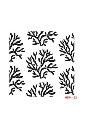 Cadence Mercan Stencil (şablon) 25x25 Cm