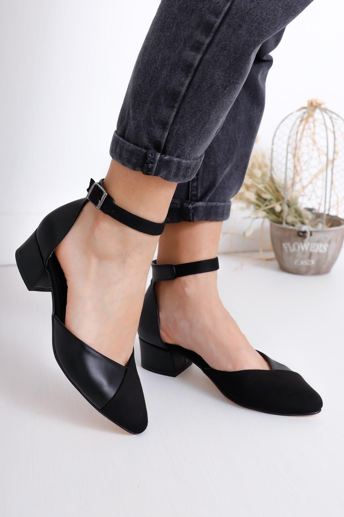 Hayalimdeki Ayakkabı Kadın Siyah Holly Topuklu Süet Ayakkabı 1