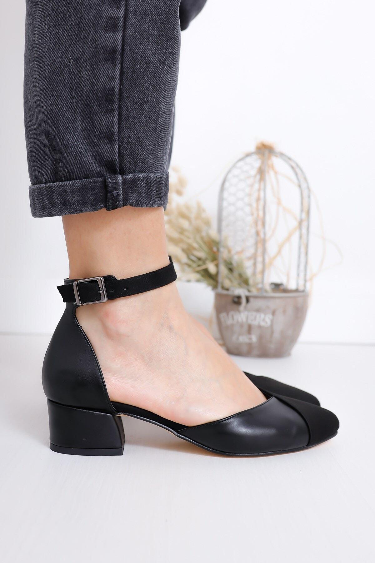 Hayalimdeki Ayakkabı Kadın Siyah Holly Topuklu Süet Ayakkabı 2