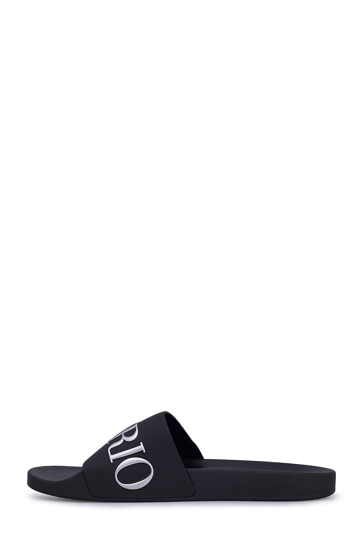 Emporio Armani Erkek Siyah Yazılı Terlik X4ps04 Xm291 M596 2
