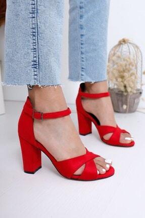 Hayalimdeki Ayakkabı Kadın Kırmızı Jany Topuklu Ayakkabı