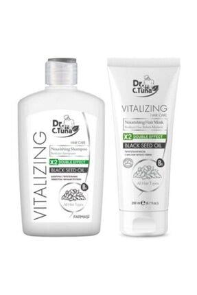 Farmasi Dr. Cevdet Tuna Vitalizing Çörek Otu Yağı Yıpranmış Saçlar Için Besleyici Şampuan Seti. 500 Ml