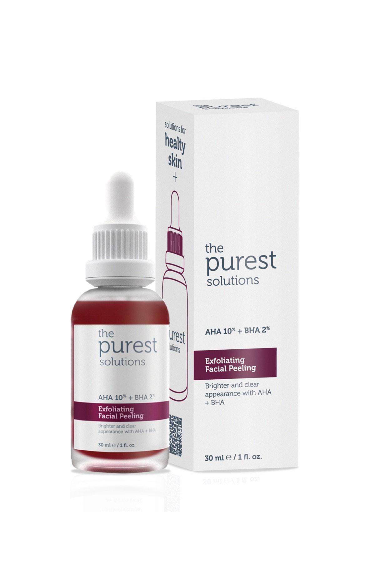 The Purest Solutions Canlandırıcı & Cilt Tonu Eşitleyici Yüz Peeling Serum 30 Ml (aha 10% + Bha 2%) 1