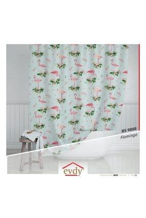 Evdy Duş Perdesi 9888 Flamingo Model Çift Kanat 2 X100 X200 Cm