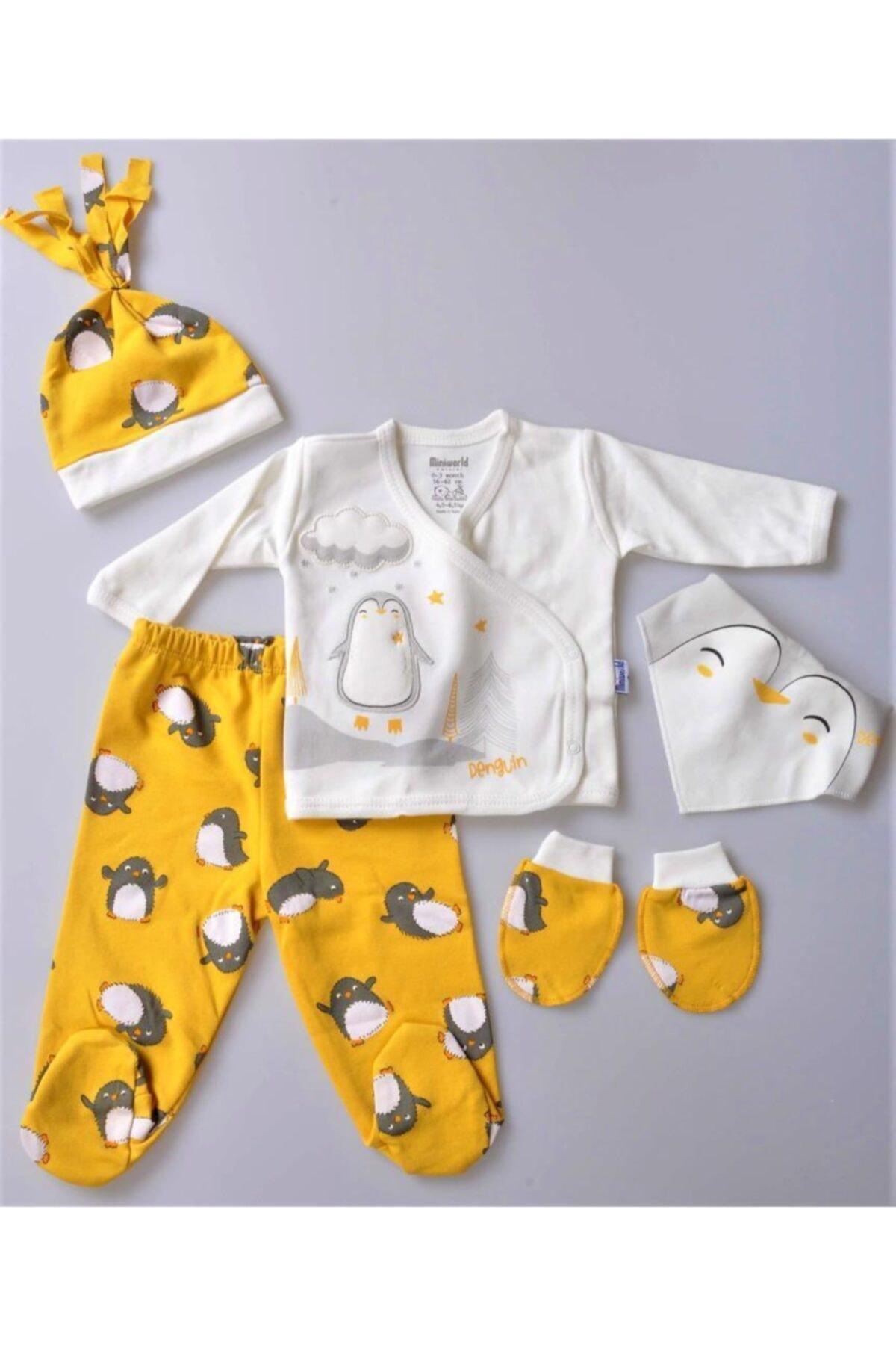 Miniworld Erkek Bebek Hello Sevimli Penguen Zıbın Takım 5 Parça-15395 1