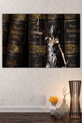 Nazenin Design Adalet Terazisi Avukat Hukuk Kanvas Tablo (120x80 Cm Ölçü)