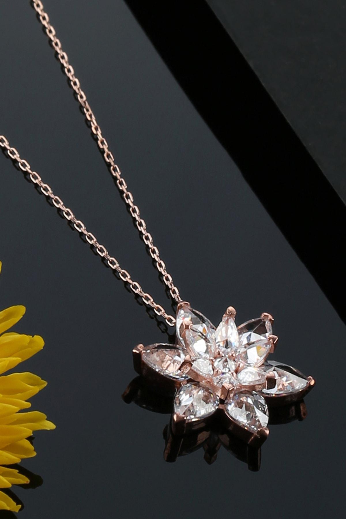 Tubiss Takı Lotus Çiçeği Gümüş Kolye 2