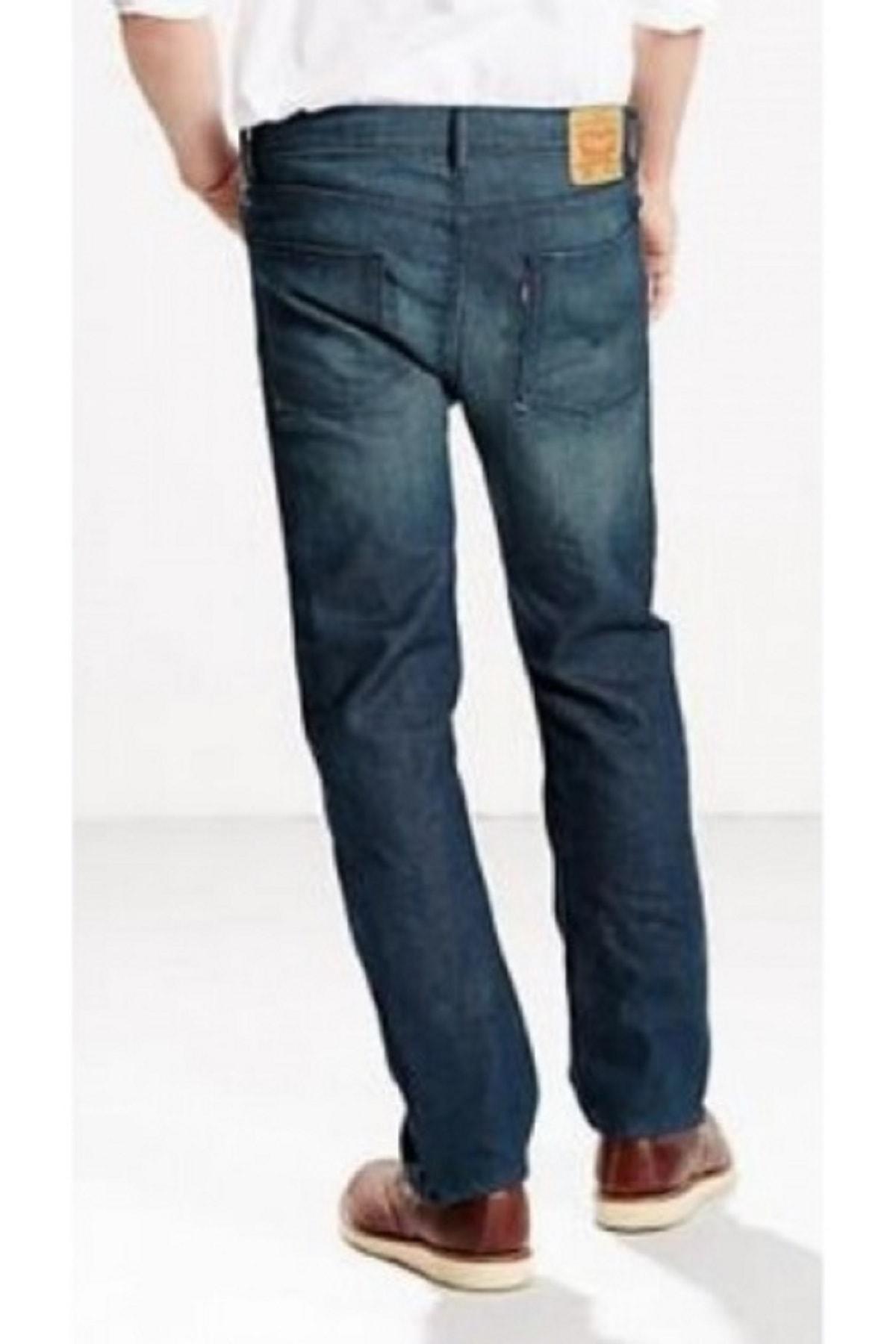 Levi's Erkek Mavi Slim Straight Leg Jeans Pantolon 08513-0647 513 2