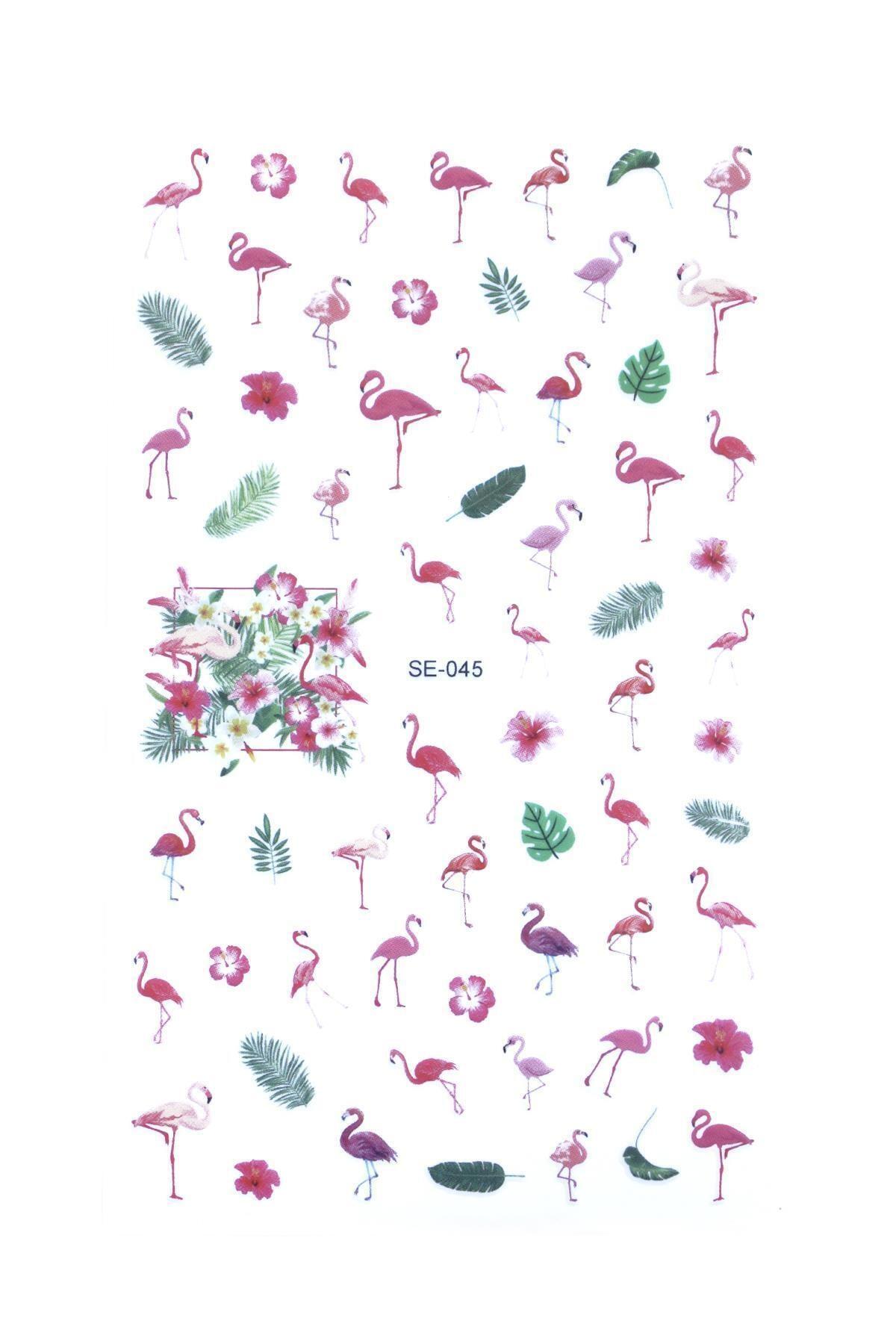 New Obsessions Flamingo Tırnak Sticker 1