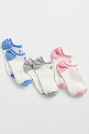 GAP Kids Kız Çocuk 3'Lü Gap Logo Çorap Seti
