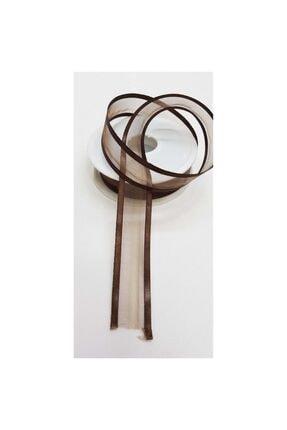 Hobigram Kahverengi Organze Saten Kurdele 1090 2.5 cm