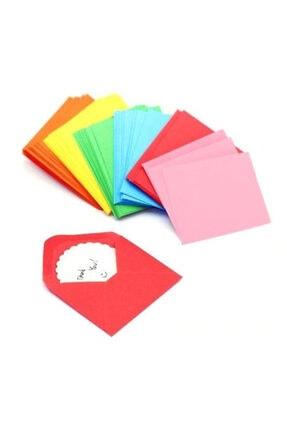 Hobialem 100 Adet Renkli Mini Zarflar 7x10 cm