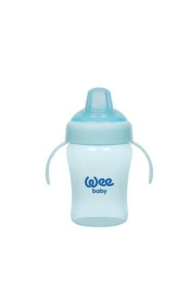 Wee Baby Colurful Akıtmaz Kulplu Antikolik Bardak 240 Ml - Mavi