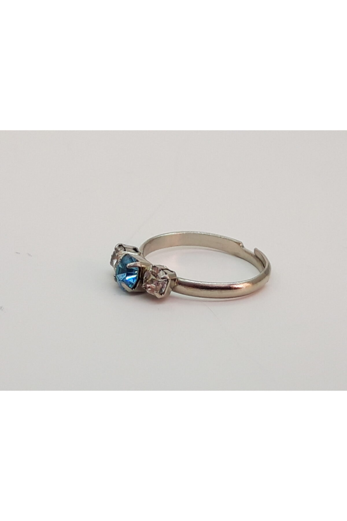 Trendyıldızı Açık Mavi Üç Taşlı Çocuk Yüzüğü 1