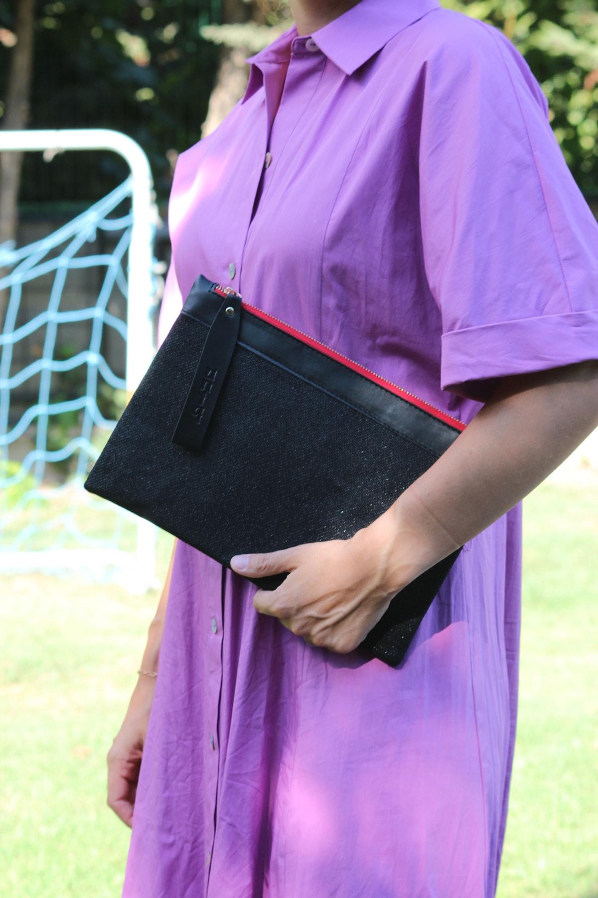 uniq Kadın Siyah Clutch Çanta 1
