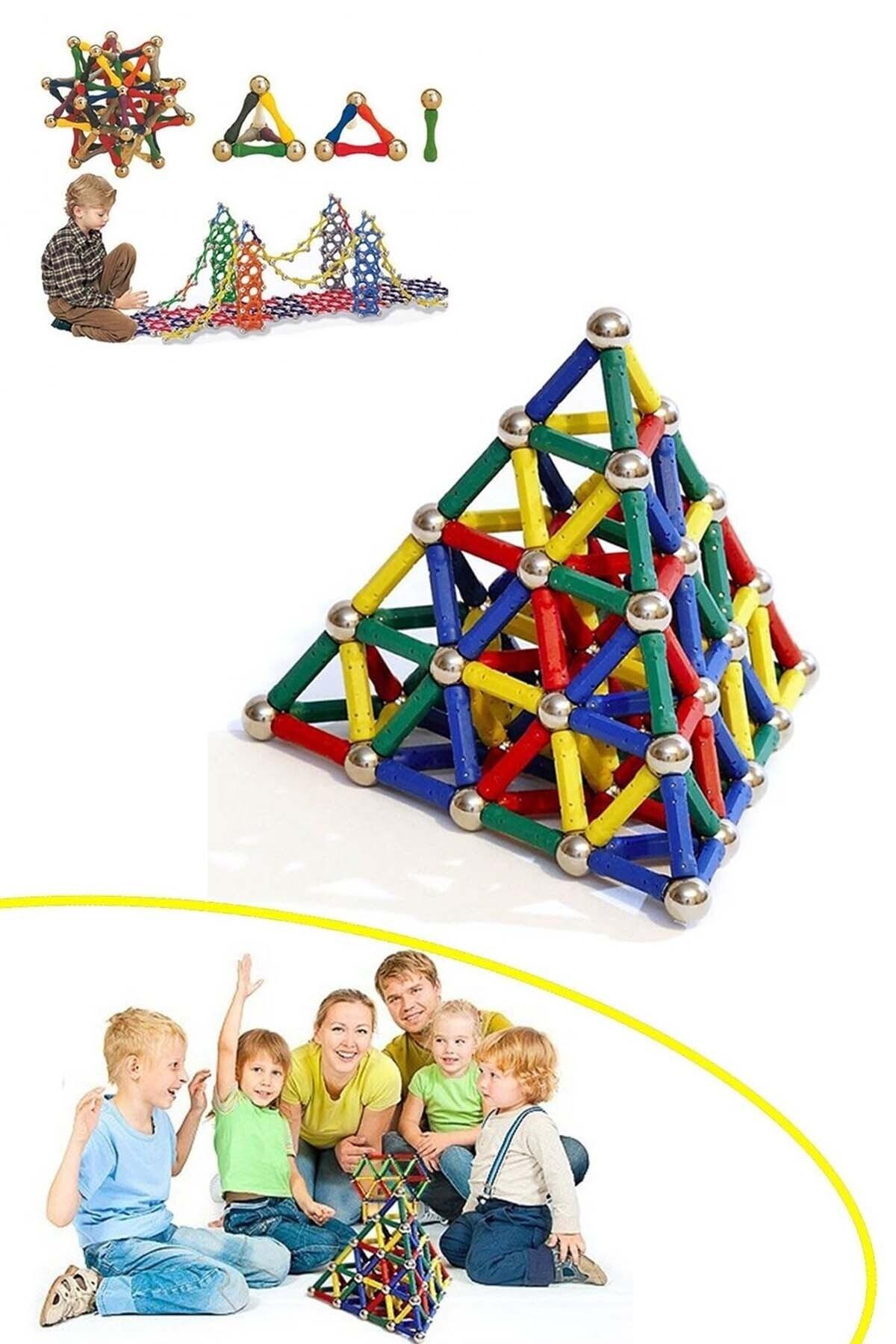 Mobee Manyetik Lego Mıknatıslı Denge Oyun Çubukları 37 Parça 2