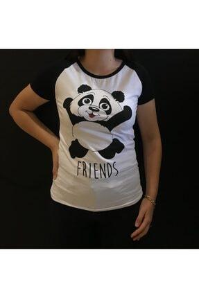 Panda Lı Friends Baskılı T-shirt