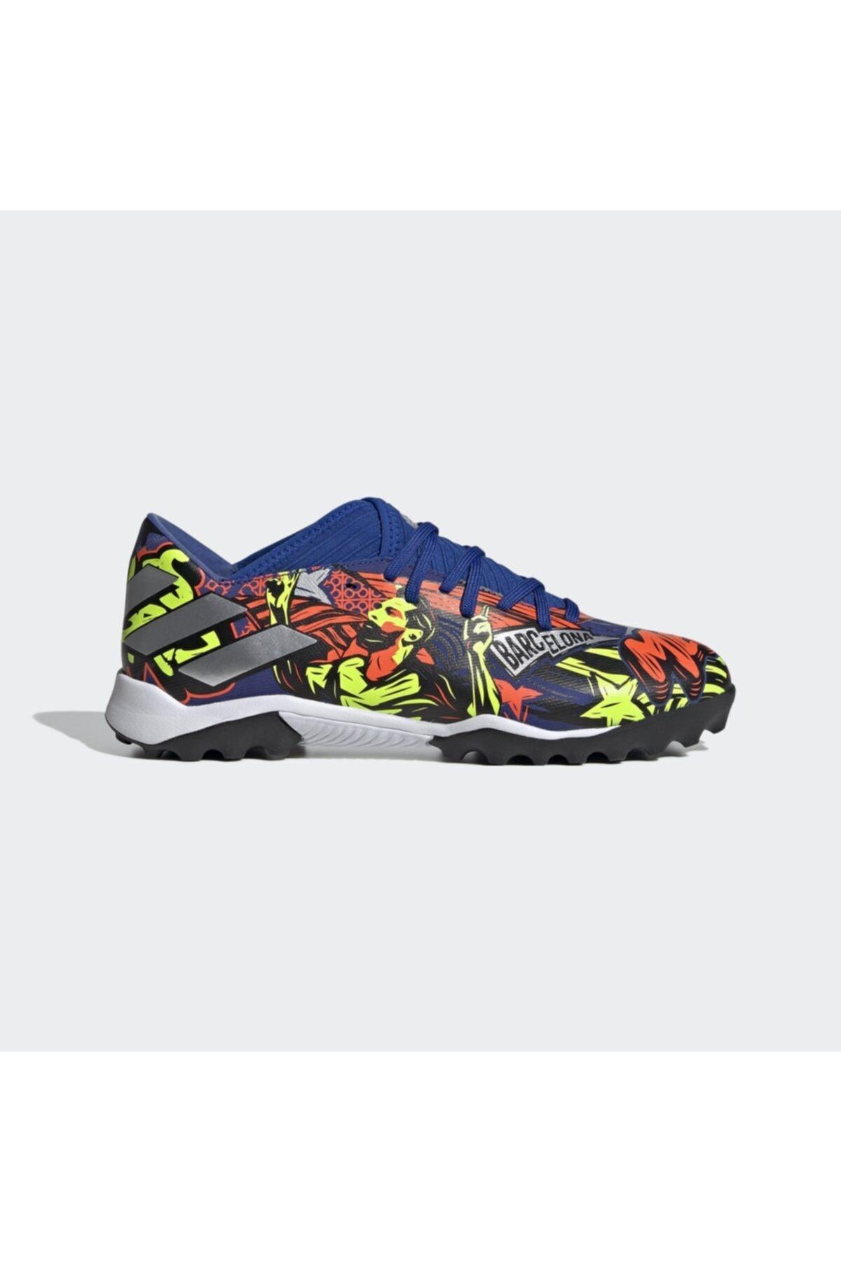 adidas Erkek Mavi Nemeziz Messi 19.3 Halı Saha Ayakkabısı 1