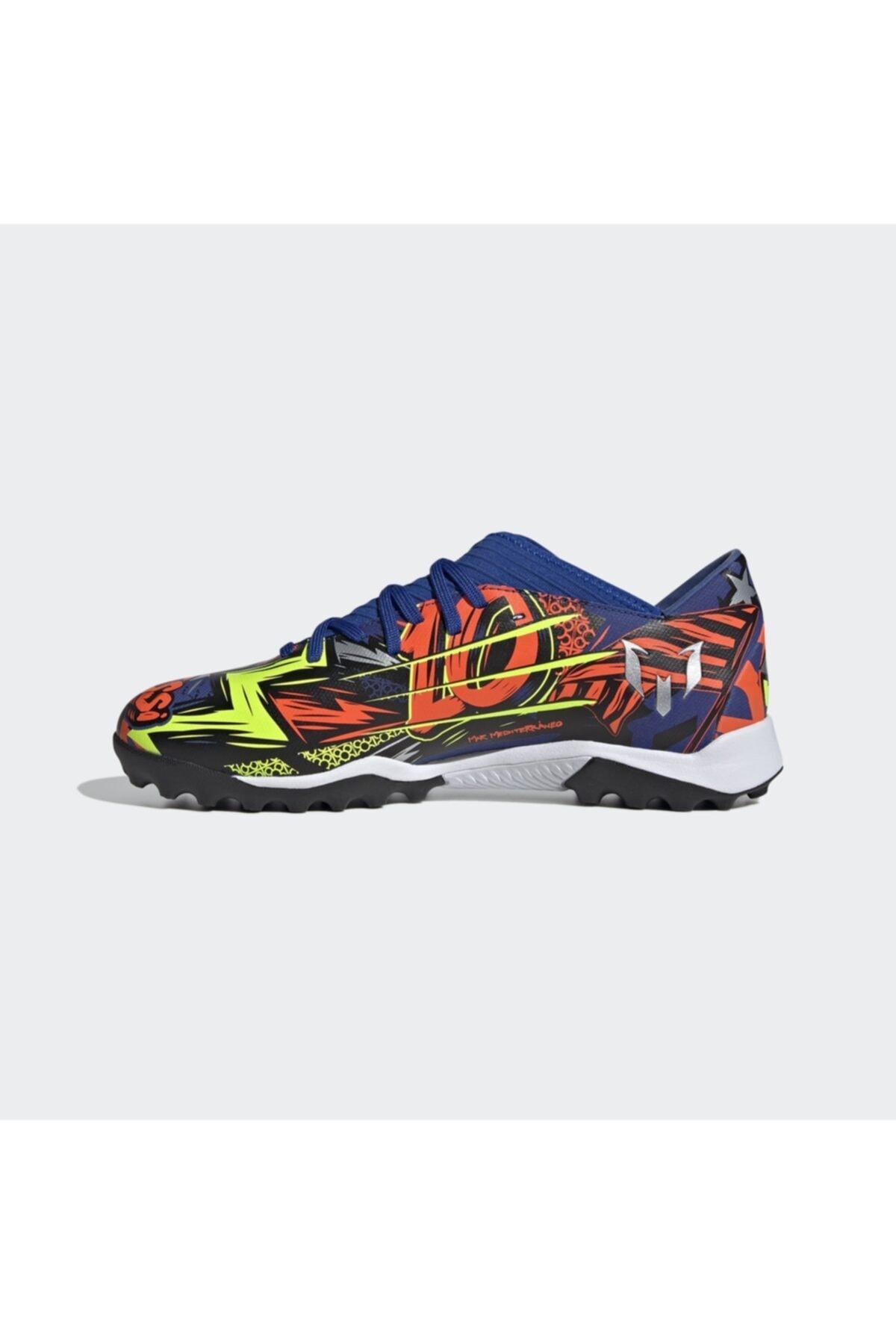 adidas Erkek Mavi Nemeziz Messi 19.3 Halı Saha Ayakkabısı 2