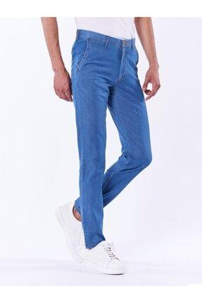 Dufy Erkek Mavi Büyük Beden Düz Pantolon