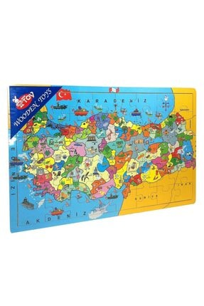 Wooden Toys Türkiye Haritası Ahşap Puzzle