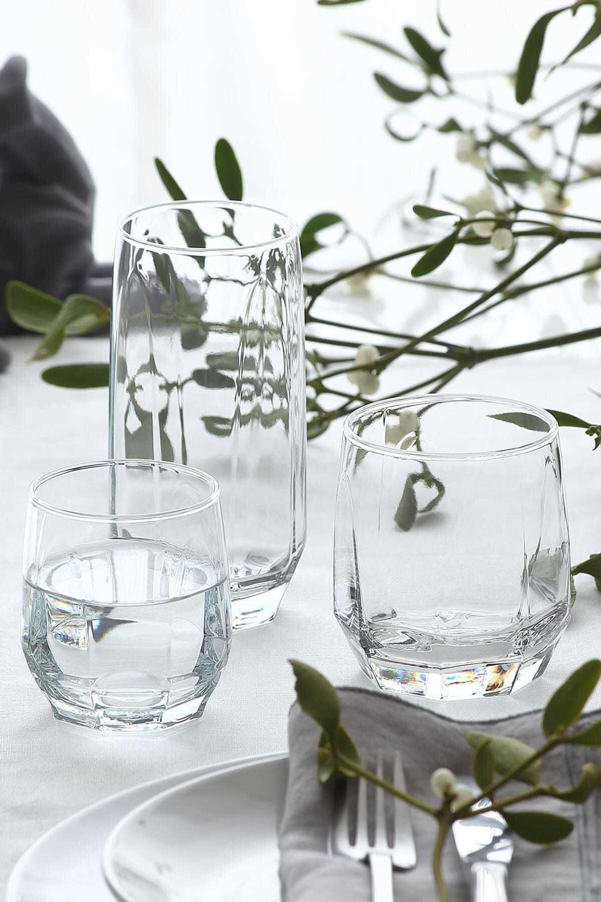 LAV Diamond 18'li Meşrubat Bardağı Seti 1