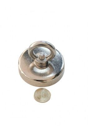 Mıknatıs Ar-Ge Neodyum Pot Magnet Fishing Çok Güçlü Kurtarma Mıknatısı 75 mm