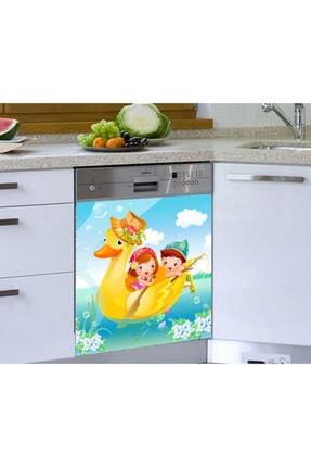 Jasmin2020 Bulaşık Makinesi Sticker Çocuk Ördek