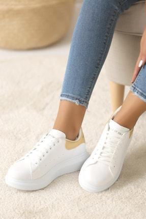 Pembe Potin Kadın Beyaz Altın Ayakkabı