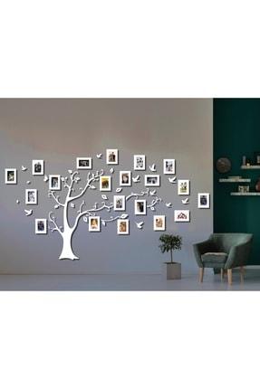 aynam Ahşap Soy Ağacı 20 Çerçeveli - Beyaz