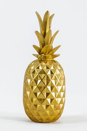 Eymense Büyük Ananas Dekoratif Obje Gold