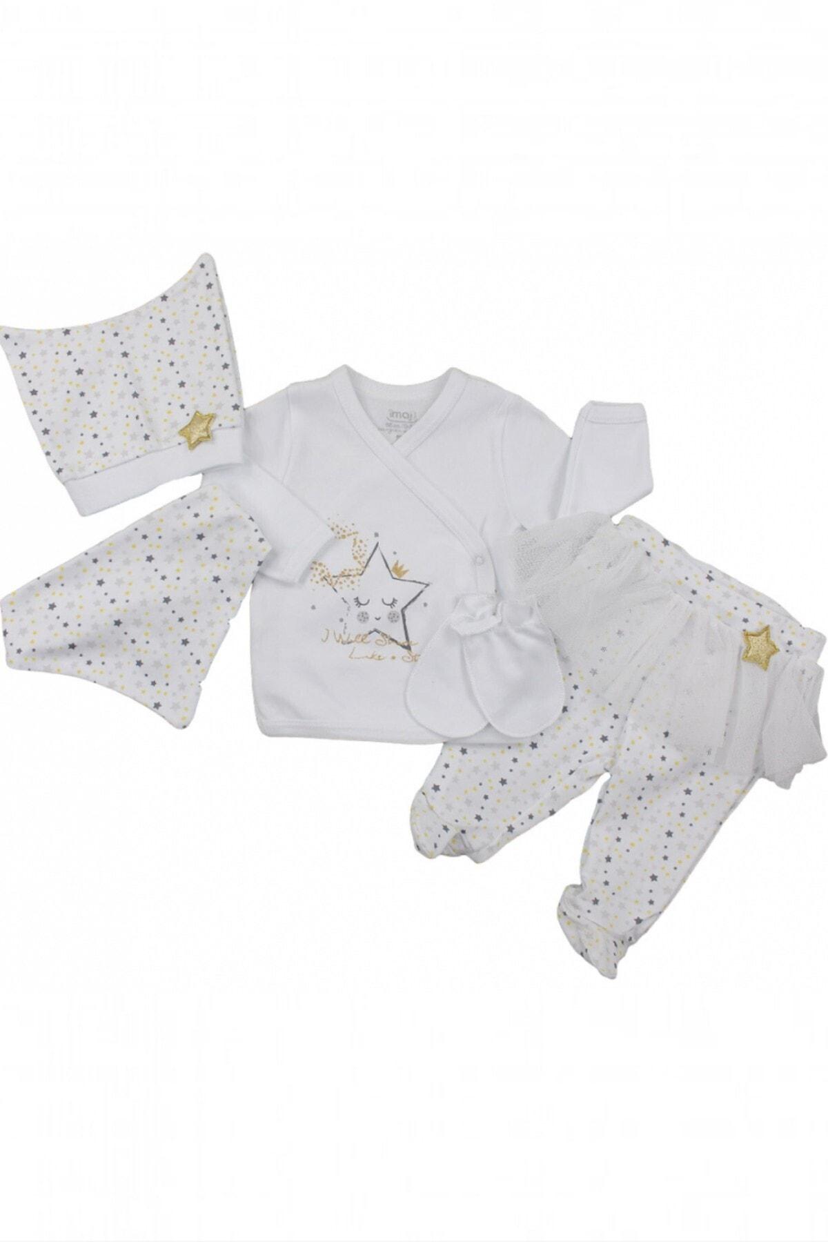 İmaj Little Stars Kız Bebek 5'li Zıbın Takımı 1