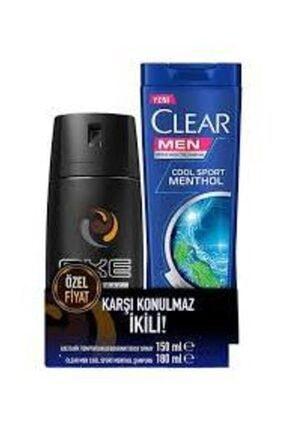 Axe Deodorant Dark Temptation 150 ml Clear Men Kepeğe Karşı Etkili Cool Sport Menthol Şampuan 180 ml