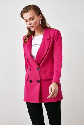 TRENDYOLMİLLA Fuşya Düğmeli Blazer Ceket TWOAW20CE0130