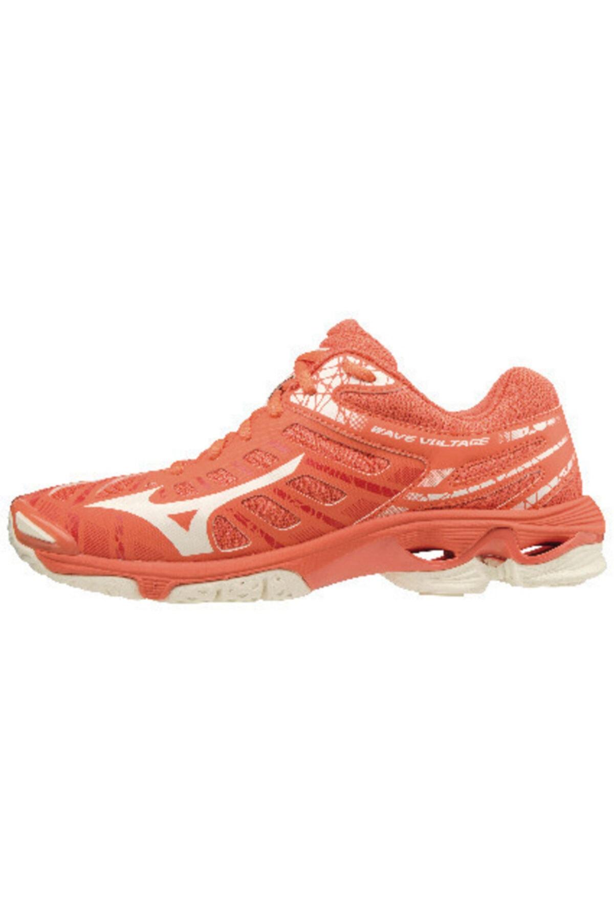 MIZUNO Wave Voltage Kadın Voleybol Ayakkabısı Mercan 1
