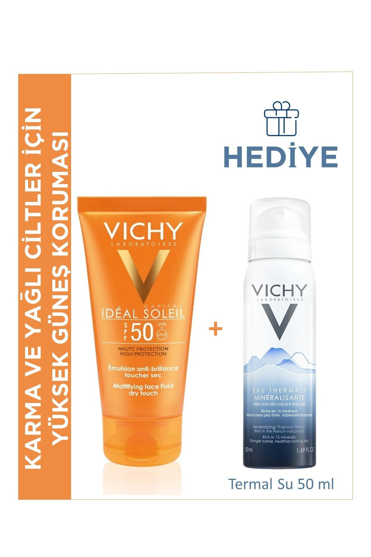 Vichy Ideal Soleil Parlama Karşıtı Bakım ve Güneş Koruma Seti Karma ve Yağlı Cilt Tipleri 8681689318536