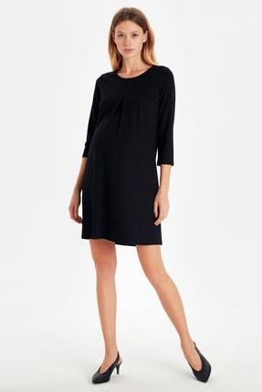 LC Waikiki Hamile Yeni Siyah Elbise 9W9542Z8