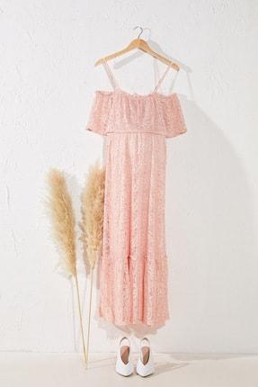 LC Waikiki Kadın  Pembe   Elbise 0Sr047Z8