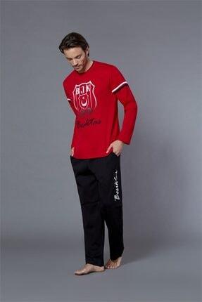 ROLY POLY Erkek Kırmızı Siyah Beşiktaş Lisanslı Pijama Takım 8551