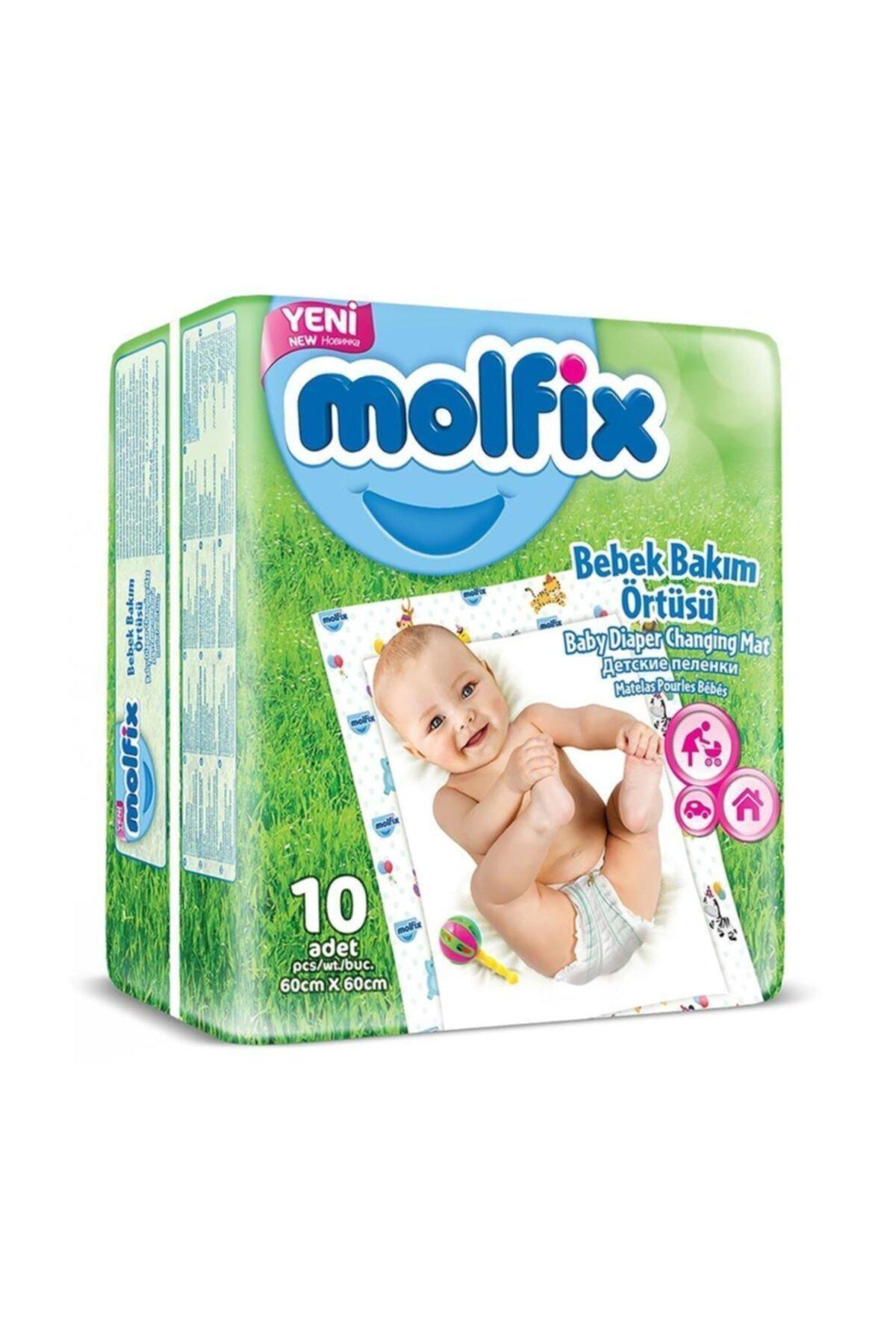 Molfix Bebek Bakım Örtüsü 10 Adet 60X60 cm 1