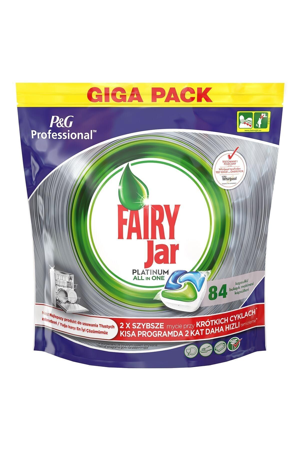 Fairy Professional 84 Yıkama Platinum Bulaşık Makinesi Deterjanı Kapsülü 1