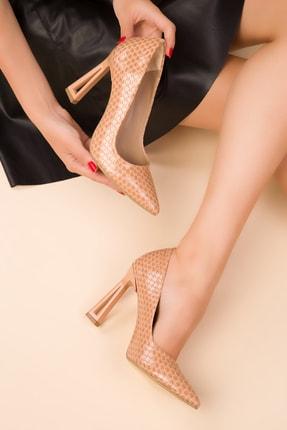 SOHO Bej Petek Kadın Klasik Topuklu Ayakkabı 15250