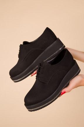 SOHO Siyah Süet Kadın Casual Ayakkabı 15264