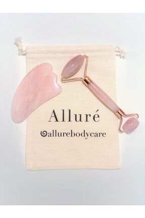 Allure Body Care Pembe  Quartz Face Roller & Gua Sha