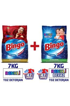 Bingo Renkli ve Renkli&Beyaz Toz Çamaşır Deterjanı 7 kg 2'li Av Pkt
